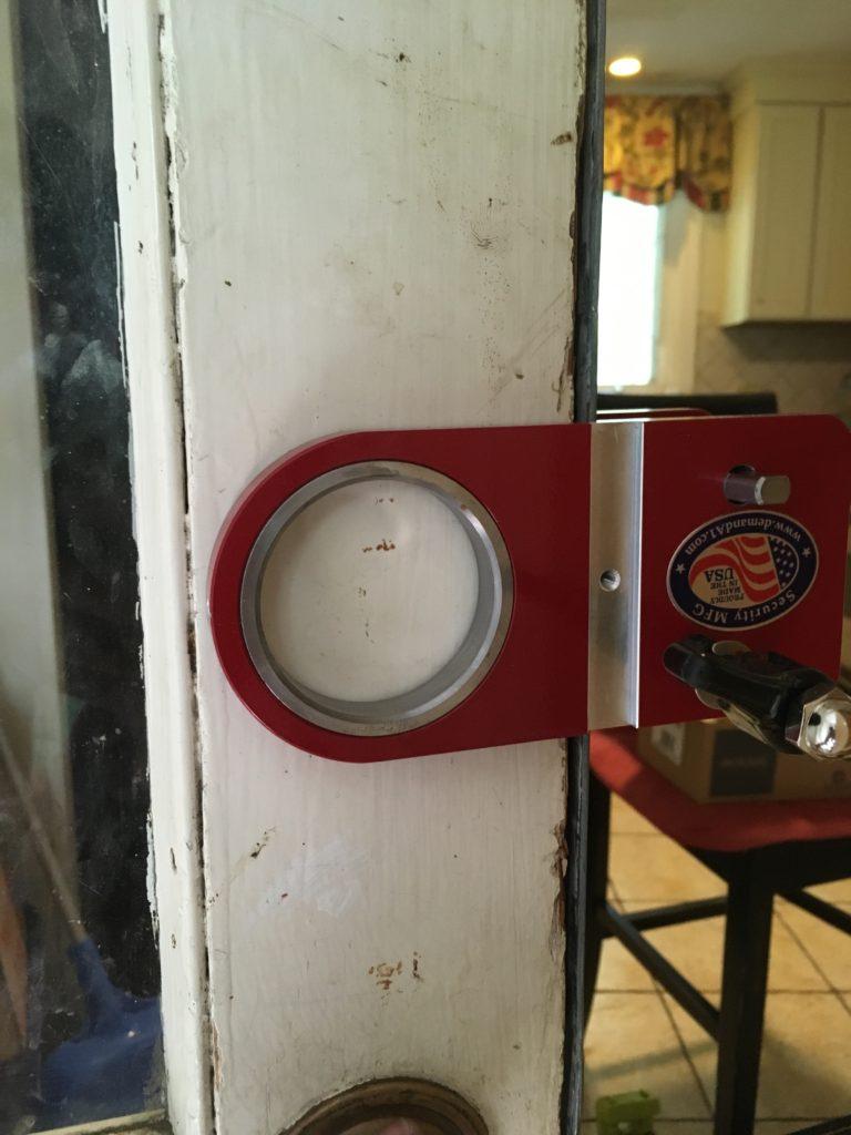 Avon Residential client new deadbolt install on old door