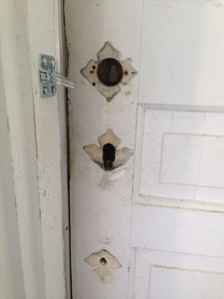 old home door needed new hardware in new britian