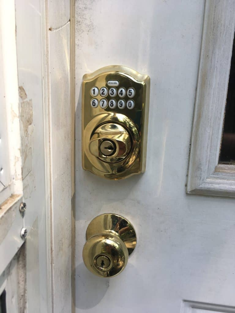 keypad lock installed at residence in cromwell ct